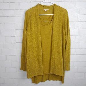 Eileen Fisher Linen Cardigan Sweater Set G44
